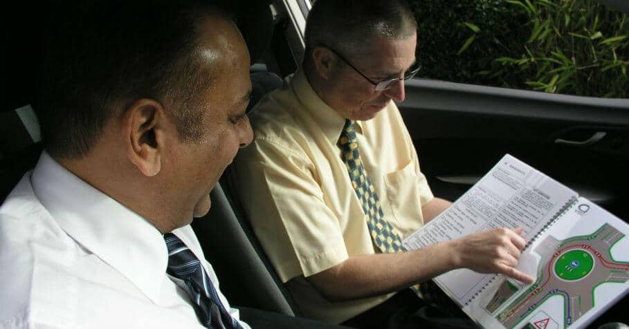 In-car driving instructor training