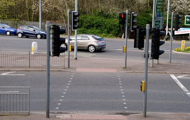 Example of pelican crossing - pedestrian crossing
