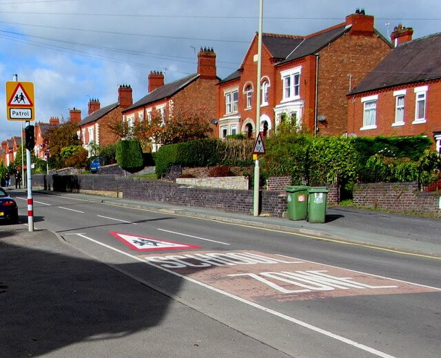 Example of school crossing - pedestrian crossings