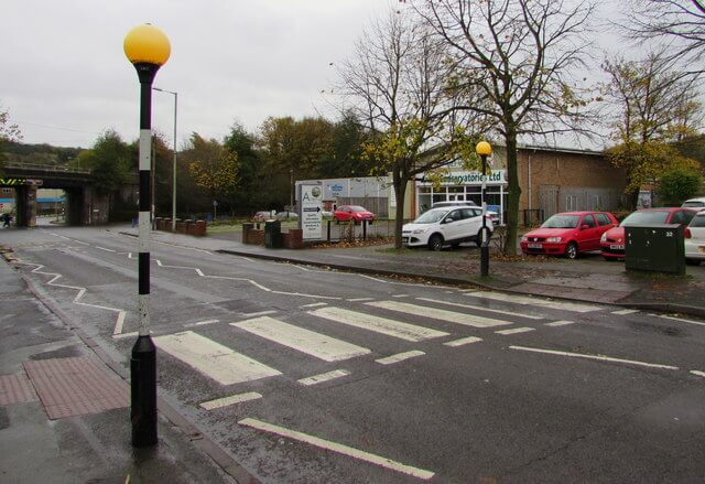 Example of a zebra crossing - pedestrian crossing