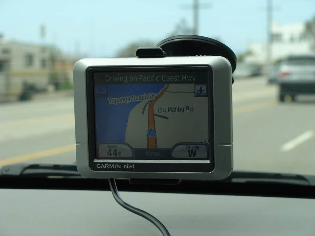 sat nav in car